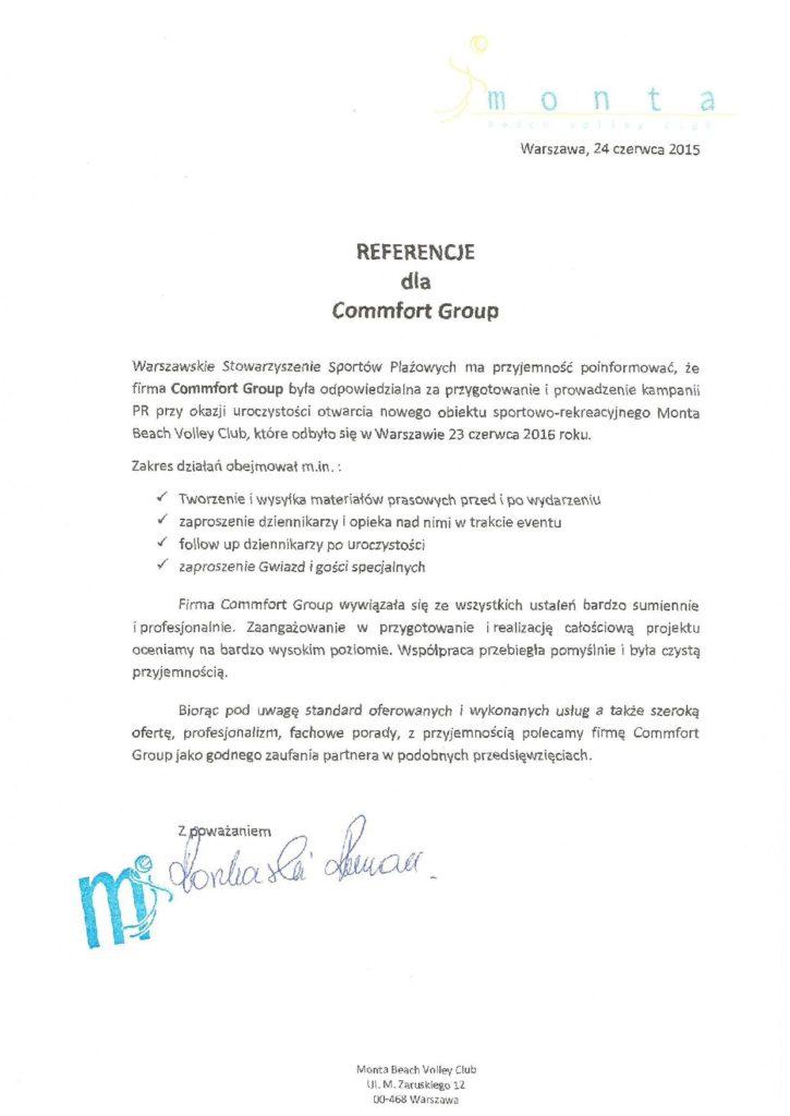 Referencje Monta Beach Volley Club